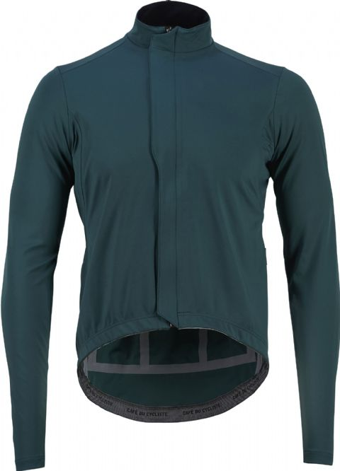 Café Du Cycliste Men's Charlotte Soft Shell Rain Jacket - Ivy Green
